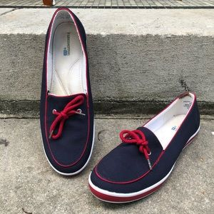 Keds Grasshoppers Canvas Shoes Navy and Red Size 9
